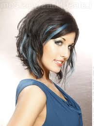 dark brown hair with blue highlights beautiful long hairstyles
