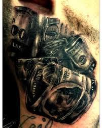 black and grey money tattoo on neck by haley adams tattoos