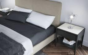 furniture chrome bedside table modern nightstand white modern