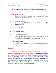 4th grade essay sample jane schaffer model for a one paragraph essay by hxi76773 jane schaffer model for a one paragraph essay by hxi76773