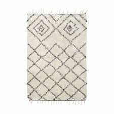 panier house doctor house doctor kuba rug 140x200 cm black white cotton living and co