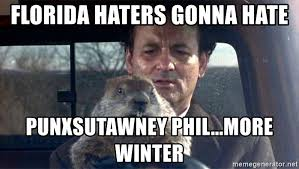 Groundhog Meme - florida haters gonna hate punxsutawney phil more winter