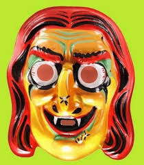 scary halloween vintage witch mask remember back when