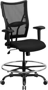 Adjustable Drafting Chair Flash Furniture Hercules Series Big U0026 Tall 400 Lb Rated Black