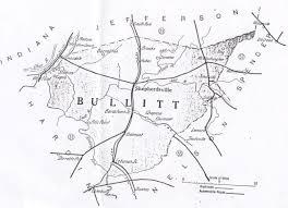County Map Kentucky Bullitt County History Bullitt County 1920 Map