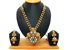antique necklace pendants images Buy antique pendant set with gold mala online at best prices in jpg