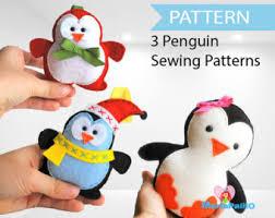 christmas penguin pattern felt penguin christmas ornament