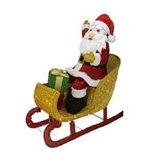 Outdoor Sleigh Decoration Yellow Santa Outdoor Decorations You U0027ll Love Wayfair