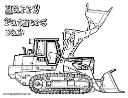 happy fathers printable construction excavator truck bebo pandco
