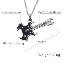 guitar necklace pendants images Electric guitar necklace skull dragon mafia jpg
