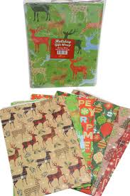 flat wrapping paper christmas gift wrap assorted flat wrapping paper 24