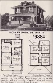 sears house plans artistic foursquare sears modern home no 264b179 pyramidal roof