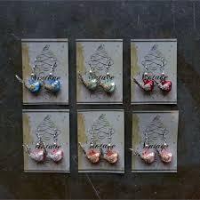creative co op kitschy vintage glass bird christmas ornament earrings
