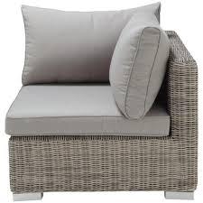 canape resine tressee angle de canapé de jardin en résine tressée grise maisons du monde