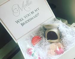 will you be my bridesmaid gifts of honor box etsy