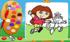 dora coloring game coloring book games