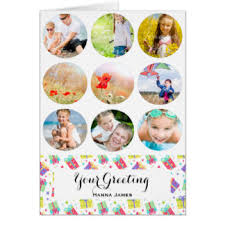 photo collage greeting cards zazzle