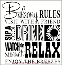 balcony rules subway art phrases and quote wall decal stickers for balcony rules subway art phrases and quote wall decal stickers for home decor loading zoom