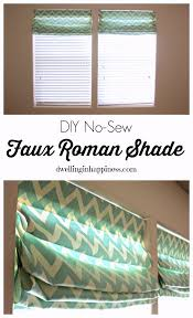 No Sew Roman Shades Instructions - diy no sew faux roman shade dwelling in happiness