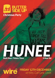 ra butter side up christmas party hunee at wire club leeds 2014