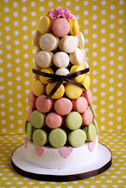 macarons set as french croquembouche celebstylewed wedding