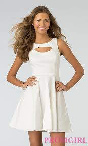 white 8th grade graduation dresses xoxo high neck graduation party dress promgirl