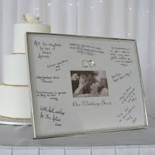wedding wishes photo frame silver signature mat wedding photo frame