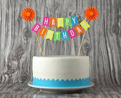 mini banner or cake bunting happy birthday with by especiallypaper