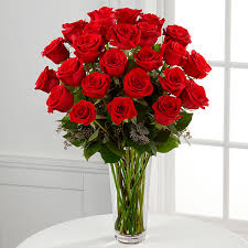 Flowers Delivered With Vase The Long Stem Red Rose Bouquet By Ftd Vase Included Online