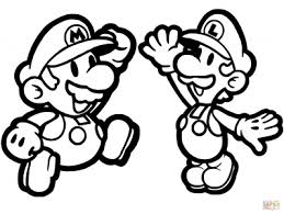 coloring pages gorgeous coloring pages mario luigi