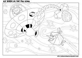 angry birds space coloring pages ice bird desenhos para gekimoe
