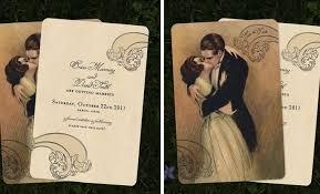 vintage style wedding invitations vintage wedding invitations by go go snap