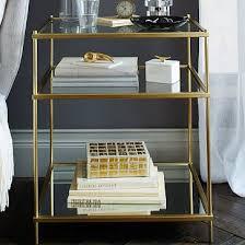 metal and glass nightstand terrace nightstand antique brass west