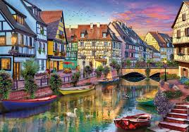 halloween jigsaw puzzle colmar canal wooden jigsaw building and location jigsaw puzzles