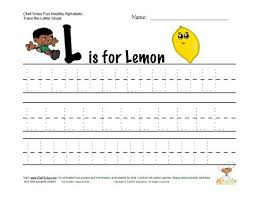 fitness and nutrition themed alphabets letter l