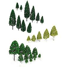 winomo 27pcs model miniature trees architecture