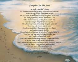 footprints in the sand gifts footprints in the sand poem 8 5x11 inspirational print ready to