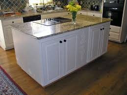 Kitchen Base Cabinets With Legs Intriguing Granite Top Kitchen Island Design Presenting Birch Wood