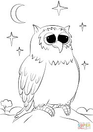 cute cartoon owl coloring page free printable coloring pages