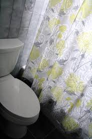 Grey And Yellow Shower Curtains Pale Yellow And Gray Curtain For Shower Useful Reviews Of