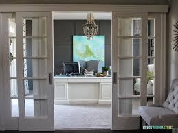 Front Door Chandelier Home Office Makeover With Diy Wood Bead Chandelier Remodelaholic
