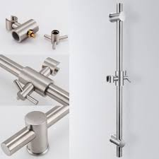 f203 2 stainless steel slide bars with all brass handheld shower
