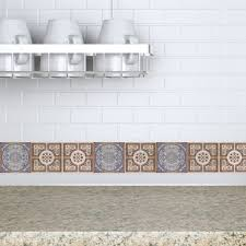 Kitchen Backsplash Decals Decorative Tiles Stickers Lisboa Set Of 4 Tiles Tile Decals
