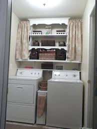 Laundry Room Curtain Decor Curtain Covering Washer And Dryer Laundry Room Ideas With Cabinet