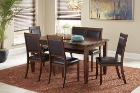 ashley dining room furniture set d395 325 signature by ashley meredy dining room table set 6 cn