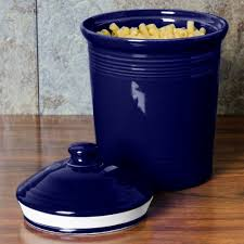 Fiesta Kitchen Canisters Homer Laughlin 573105 Fiesta Cobalt Blue Large 3 Qt Canister With