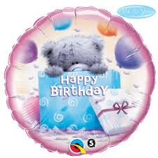 teddy in a balloon gift me to you tatty teddy birthday balloons happy birthday balloons