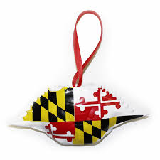 maryland flag crab shell ornament route one apparel