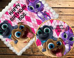 puppy dog pals cake etsy