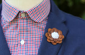 lapel flowers a wooden lapel flower makes a manly groom s boutonniere two guys